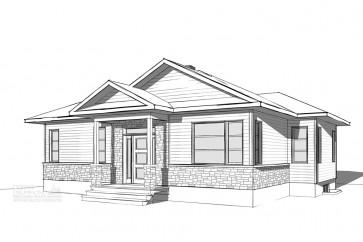 maison entree split-style rustique