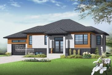 maison-modèle contemporain chaleureux-garage