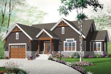 maison unifamiliale-type bungalow style rustique